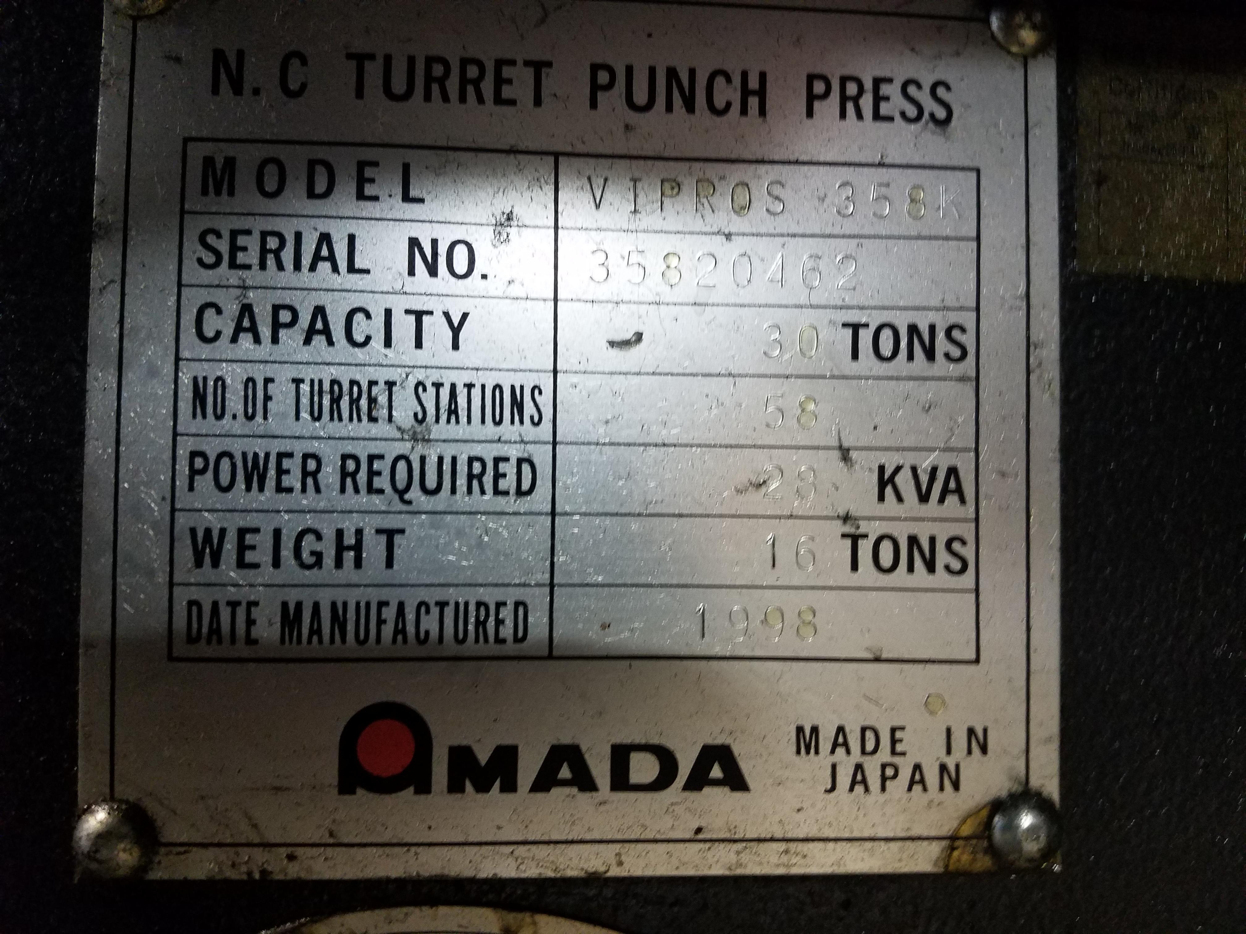 Used Turret Punch Amada Vipros 358K 1998