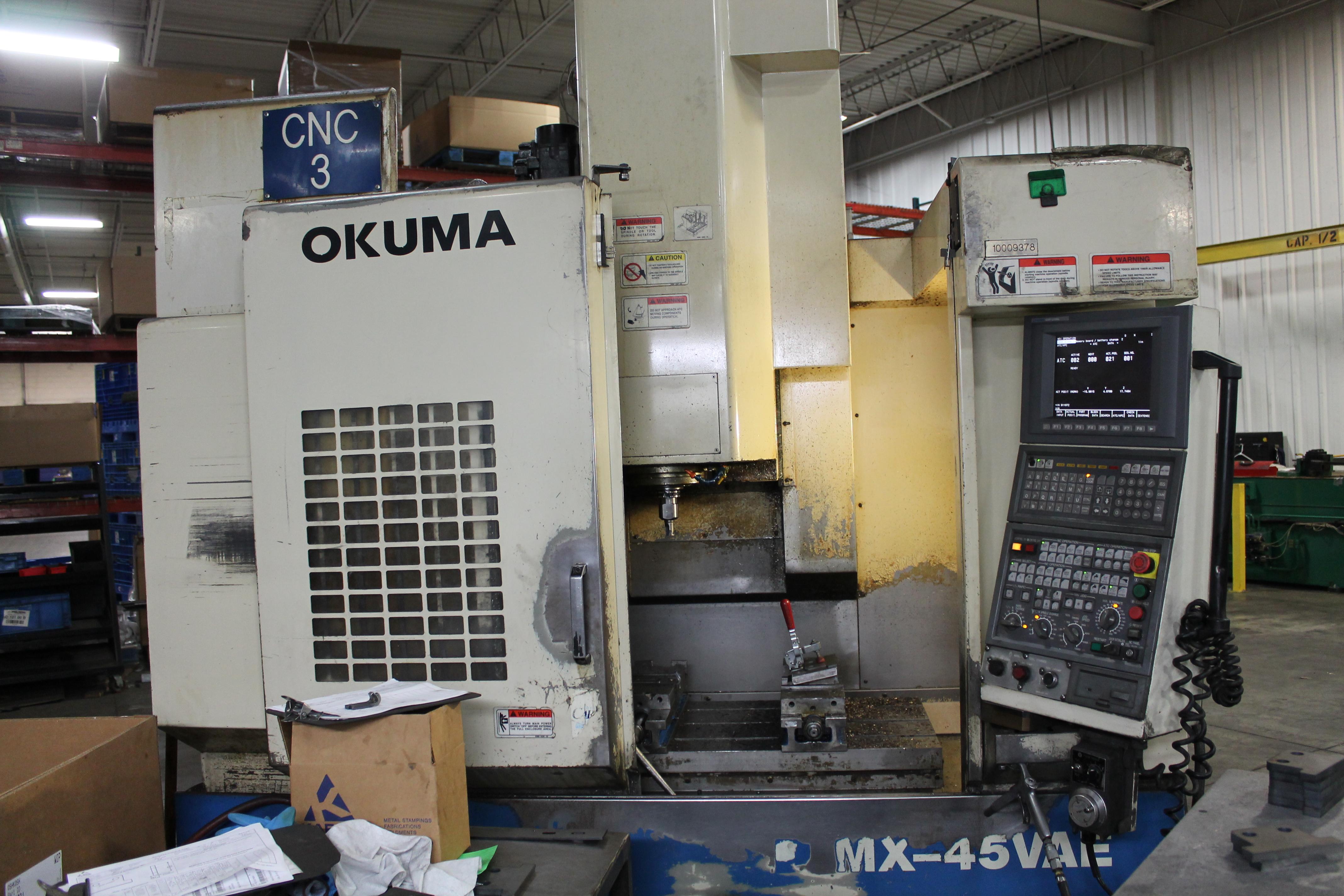 Used Vertical Machining Center Okuma MX45VAE 1998