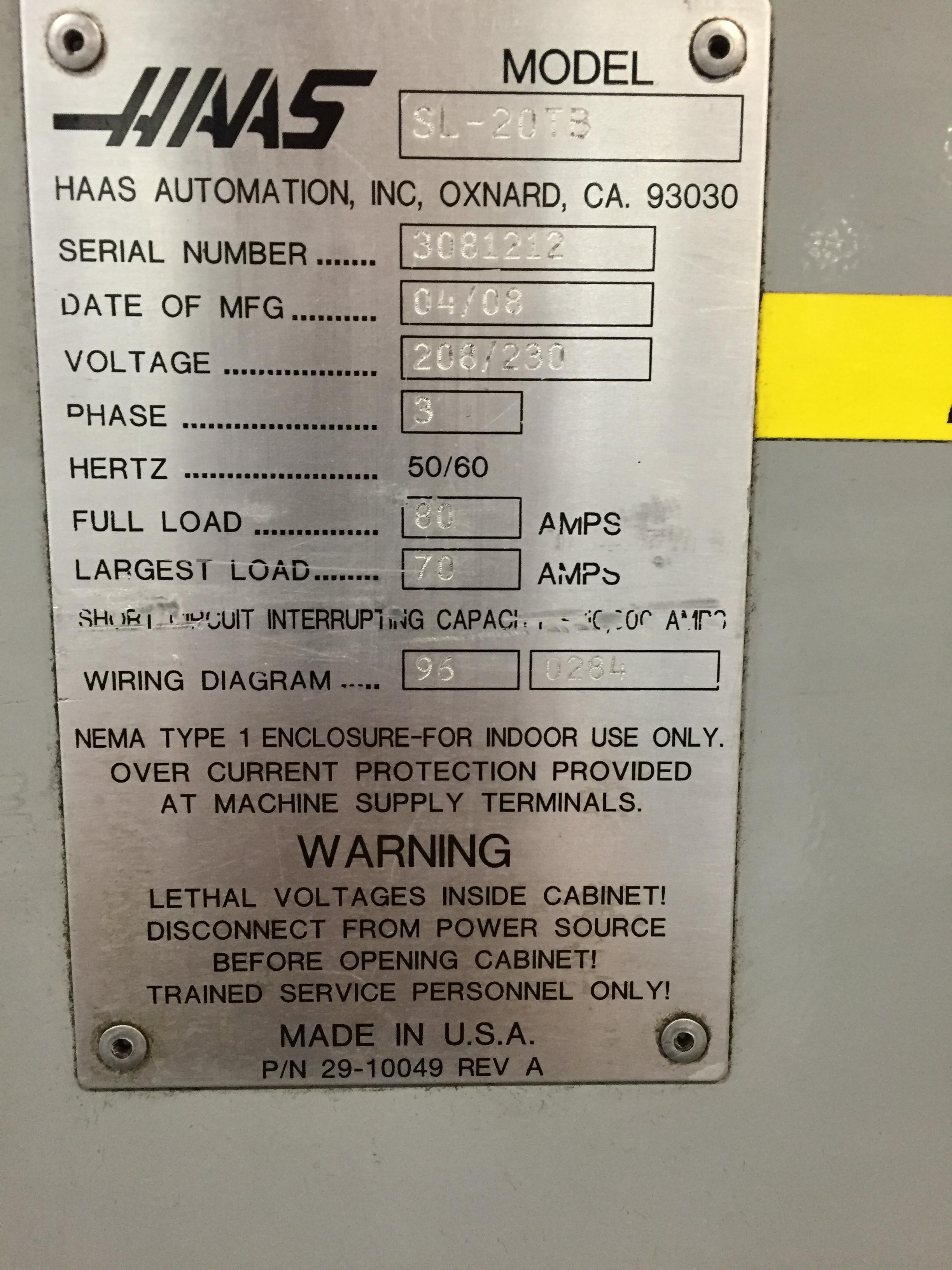 Used Haas SL-20TB For Sale Haas Sl Wiring Diagram on