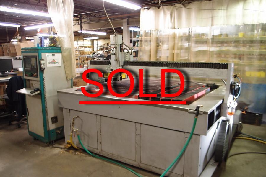 Used Flow Gantry Machining Center Waterjet Pro 1818 For Sale