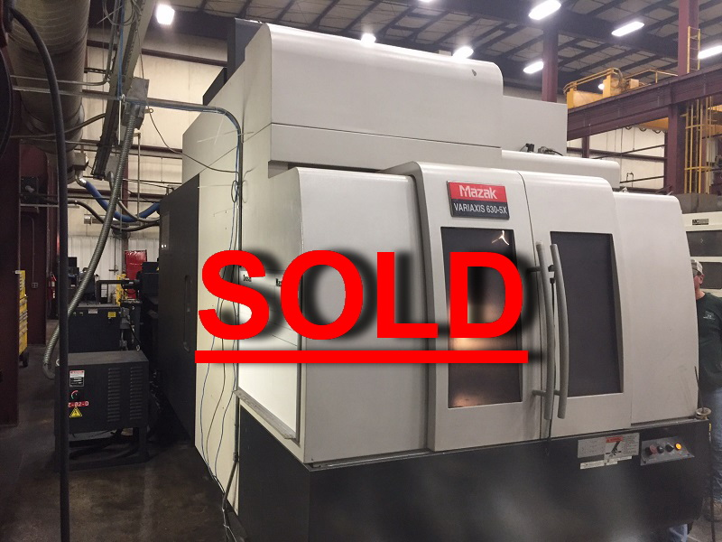 Used Mazak Vertical Machining Center Variaxis 630-5X For Sale