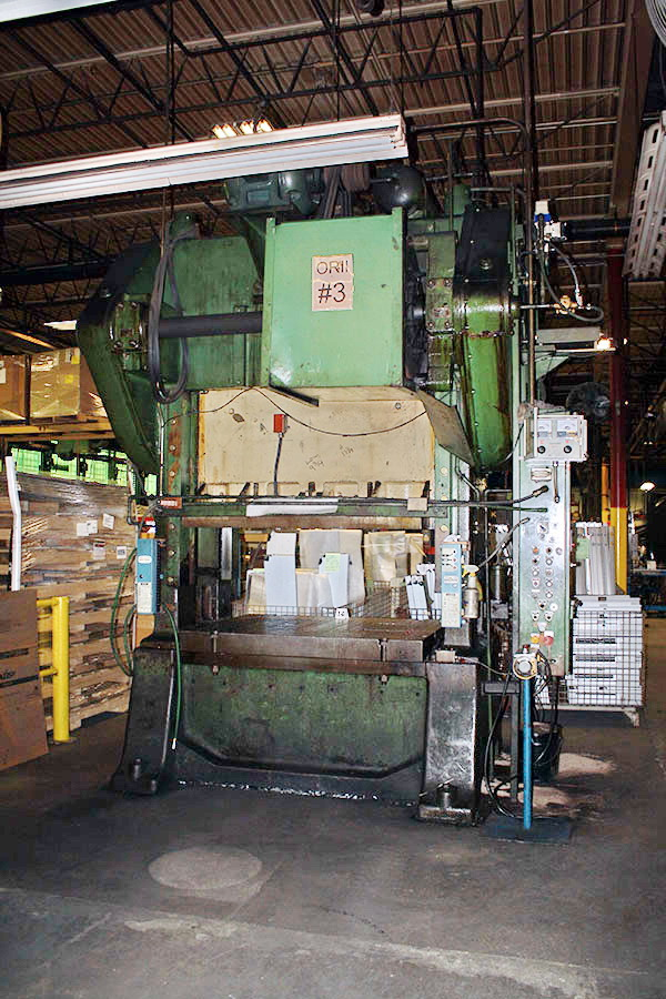 Used Straightside Press  Minster S2-150-60-48 1955