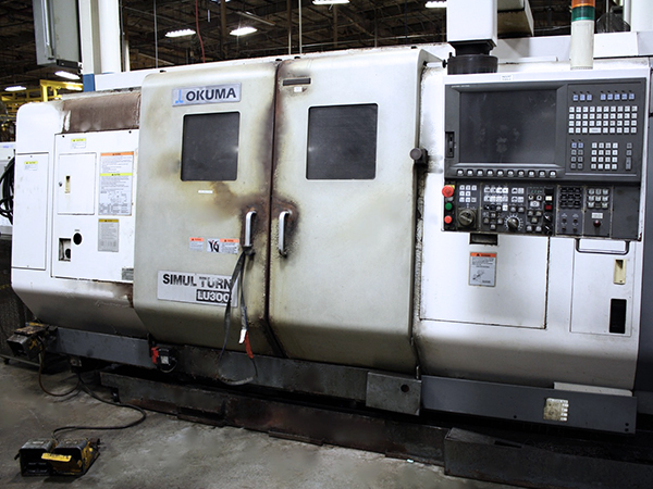 Used Twin Turret Turning Center Okuma LU300 2SC-1000 2006