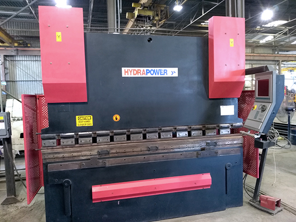 Used Hydraulic Press Brake Hydrapower GHS10008 2007