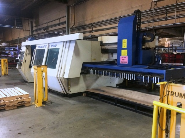 Used Laser Cutting Machine Trumpf Trumatic L2510 2004