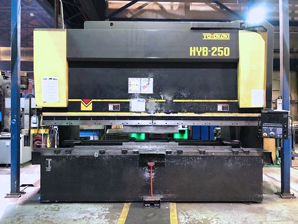 Used Hydraulic Press Brake Toyokoki HYB 250 2010