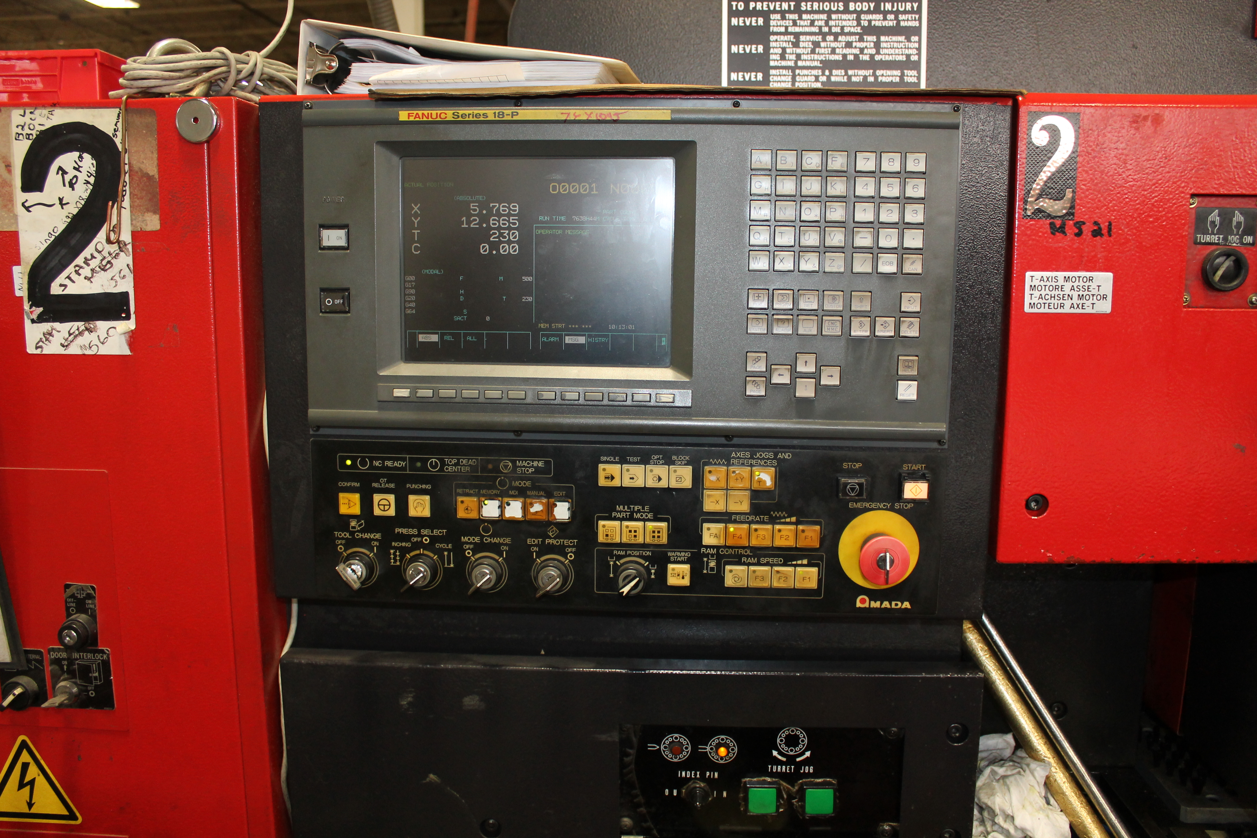 Used Amada Turret Punch vipros 358 king II For Sale