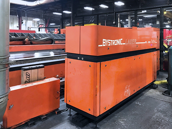 Used Laser Cutting Machine Bystronic Bystar 4020 1998