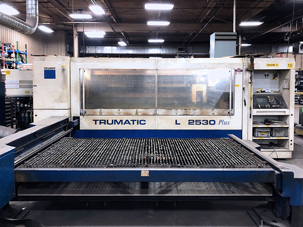 Used Laser Cutting Machine Trumpf Trumatic L2530 Plus 2003
