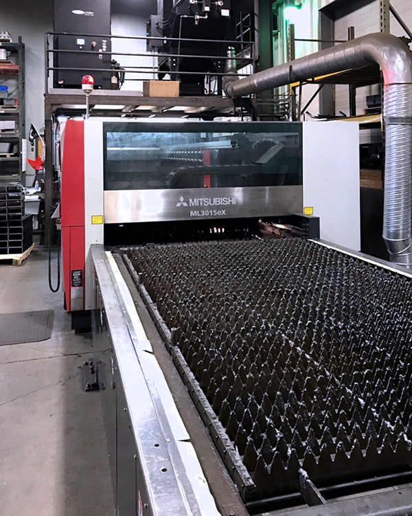Used Laser Cutting Machine Mitsubishi ML3015eX Plus 45CF-R 2012