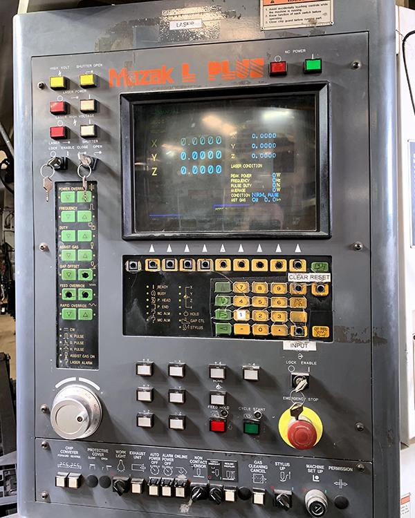 Used Laser Cutting Machine Mazak Super Turbo-X48 Hi-Pro Supercharger 1998