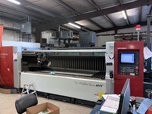 Used Laser Cutting Machine Mitsubishi ML3015eX Plus 35CF-R 2012
