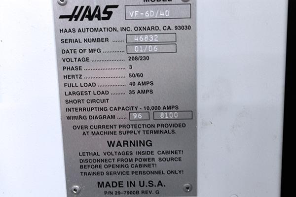 Haas VF-6/40 2006 5