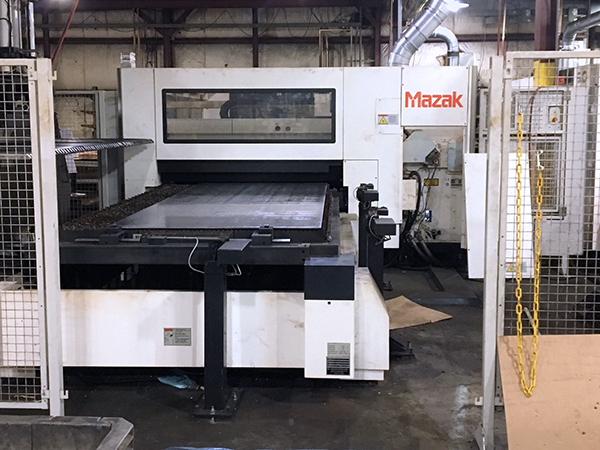 Used Laser Cutting Machine Mazak Optiplex 3015 2014