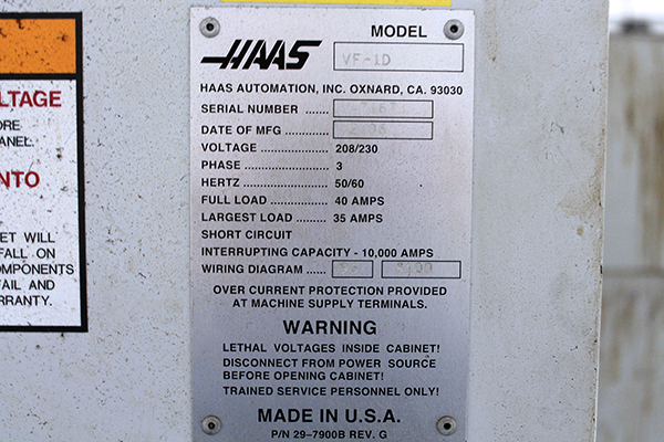 Used Haas Horizontal Machining Center ES-5-TR For Sale Haas Vf Wiring Diagram on haas vf-3yt, haas vf-2tr, haas vf-4, haas vm-3, haas vf-4ss, haas 5 axis,