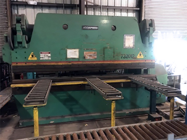 Used Hydraulic Press Brake Accurpress 732012 1997