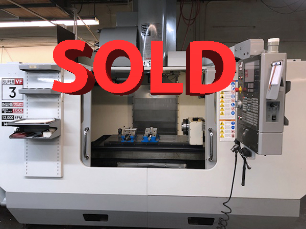 Used Vertical Machining Center Haas VF-3SS 2007