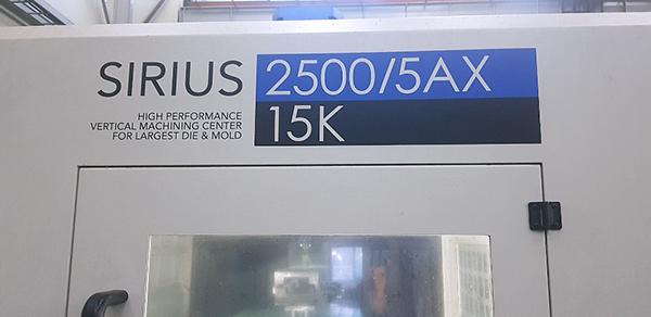 Used 5 Axis Machining Center Hwacheon Sirius-2500/5AX 2015