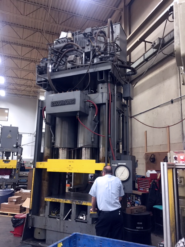 Used Hydraulic Press  Physical Service Testers 2500 Ton 1990