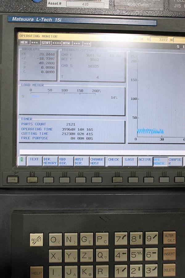 Used 5 Axis Machining Center Matsuura LX-0 5AX 2003