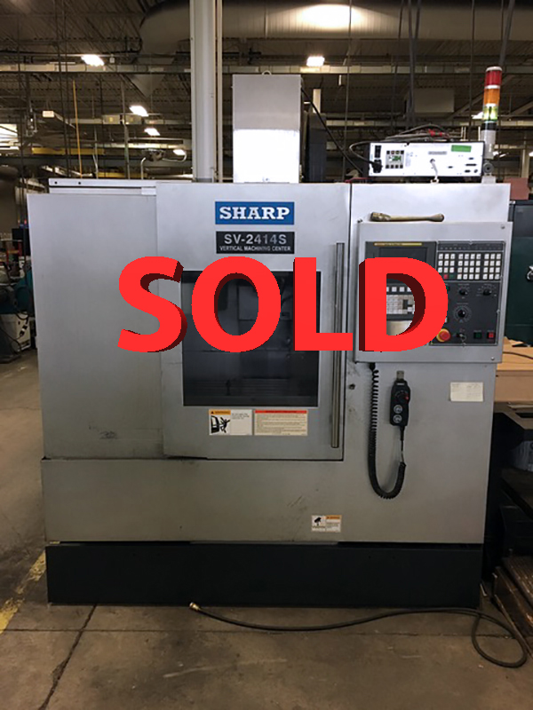 Used Sharp Vertical Machining Center SV-2412S For Sale