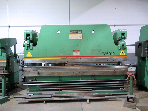 Used Hydraulic Press Brake Accurpress 725012 1985