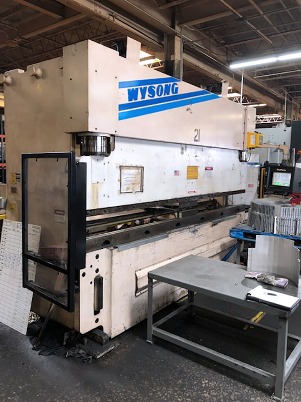 Used Hydraulic Press Brake Wysong PHP175-144 1994