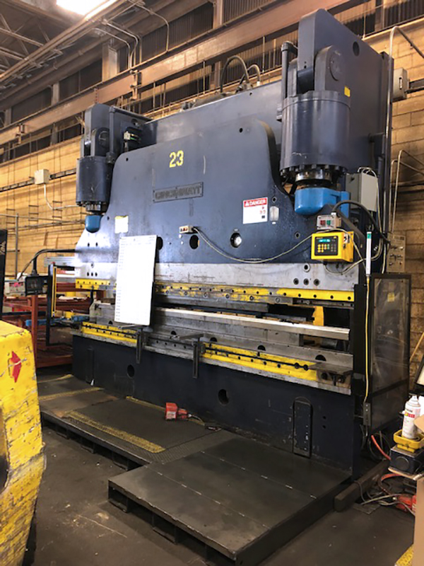 Used Hydraulic Press Brake Cincinnati 600 FM 1980