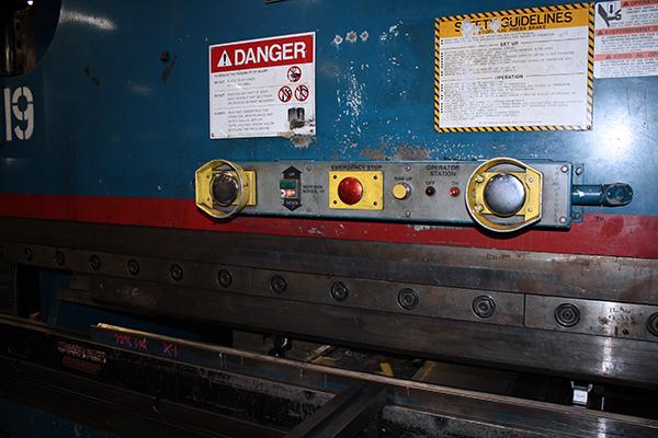 Used Hydraulic Press Brake Cincinnati 90CBIIX8 1998