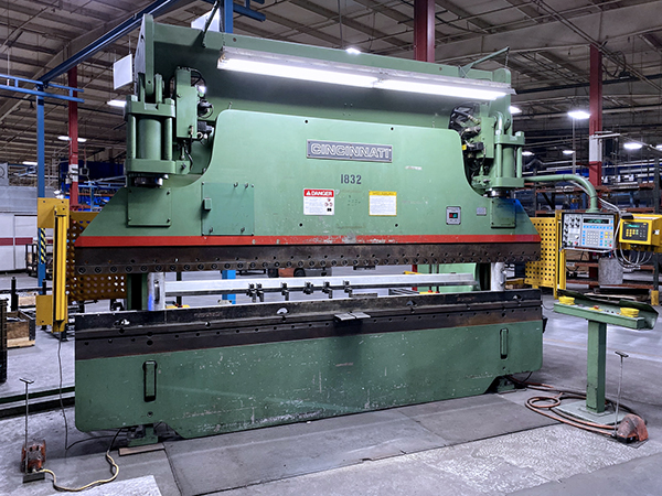 Used Hydraulic Press Brake Cincinnati 175 X 10 FM II 1998
