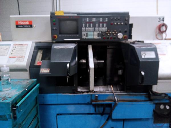 Used CNC Multi-Spindle Lathe Mazak Dual Turn 20 1997