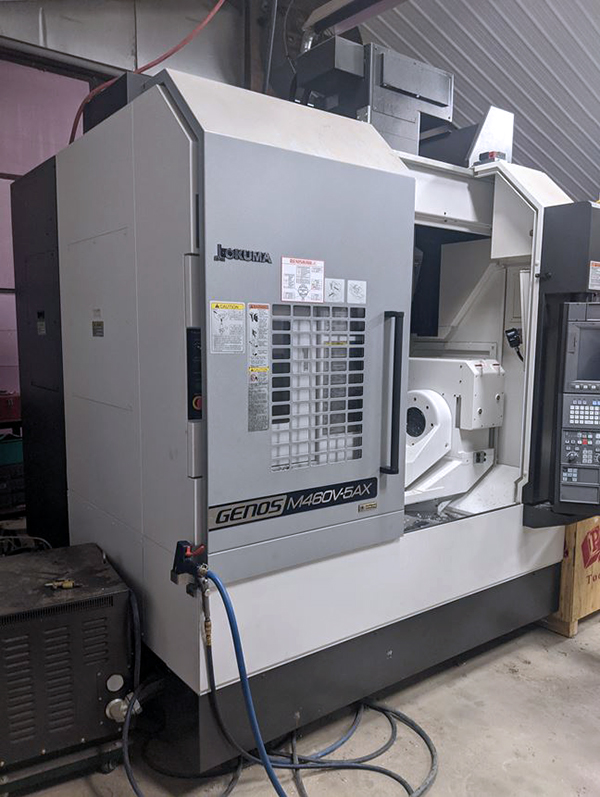 Used 5 Axis Machining Center Okuma Genos M460V-5AX 2018