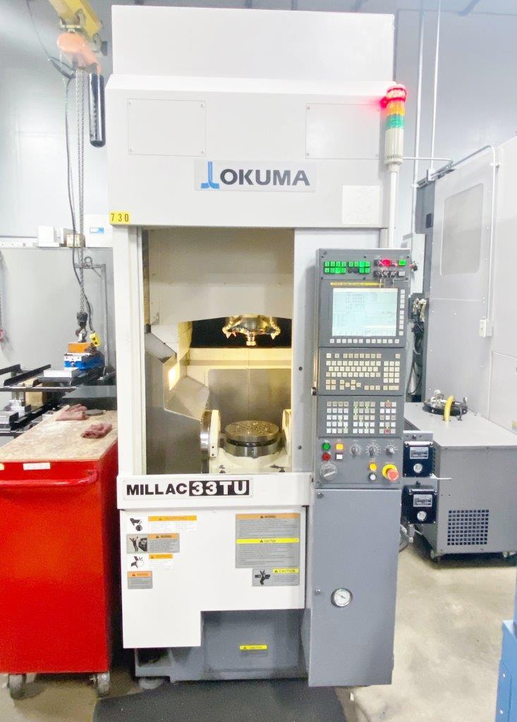Used 5 Axis Machining Center Okuma Milllac 33TU 2011