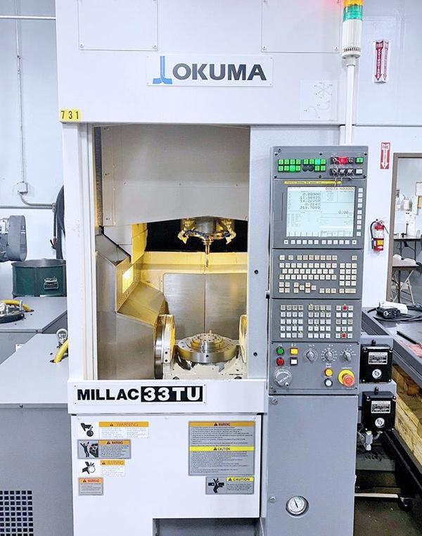 Used 5 Axis Machining Center Okuma Milllac 33TU 2010