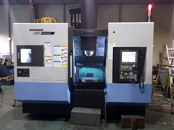 Used Vertical Machining Center Doosan VC630-5AX 2017