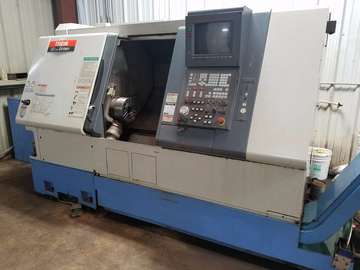 Used 5 Axis Lathe Mazak SQT250MY 1998