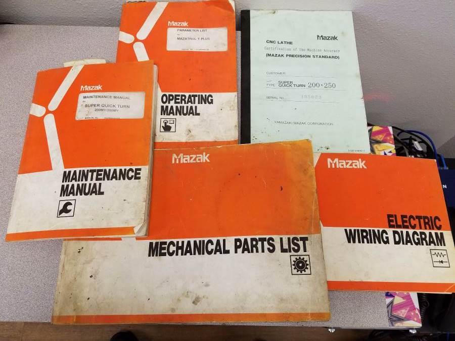 Used 5 Axis Lathe Mazak SQT250MY 1998