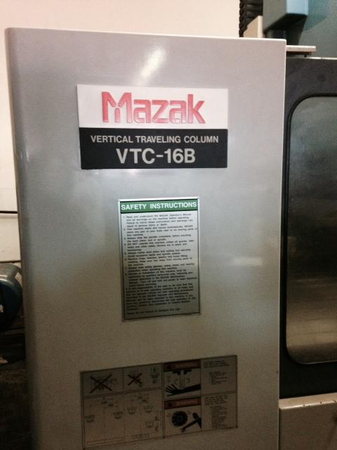 Used Vertical Machining Center Mazak VTC-16B 1995
