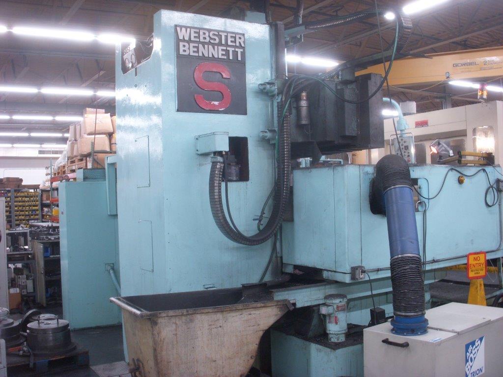 Used Vertical Boring Mill Webster & Bennett S/T/2 Series S 1981