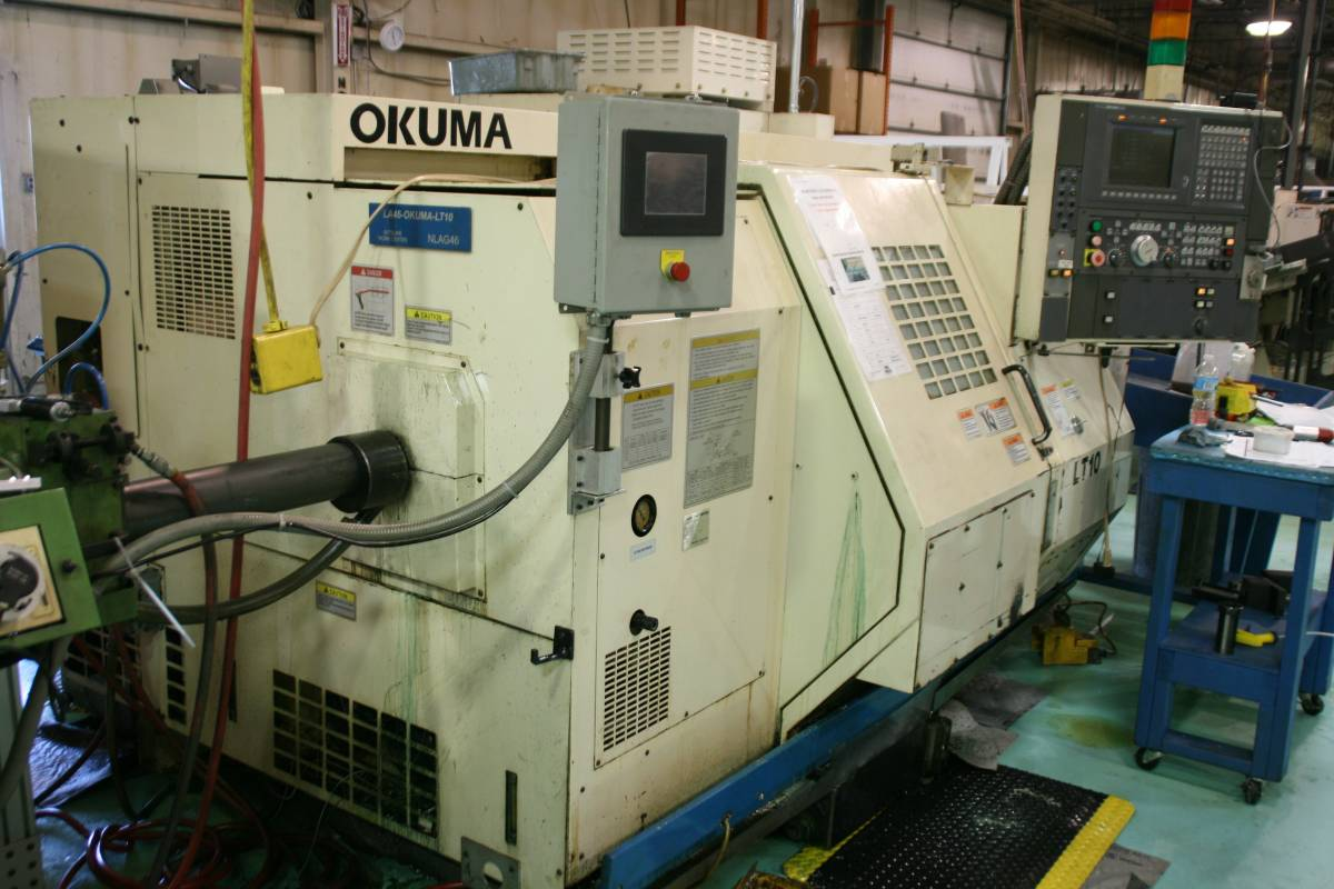 Used Dual Spindle Lathe Okuma LT10 1999