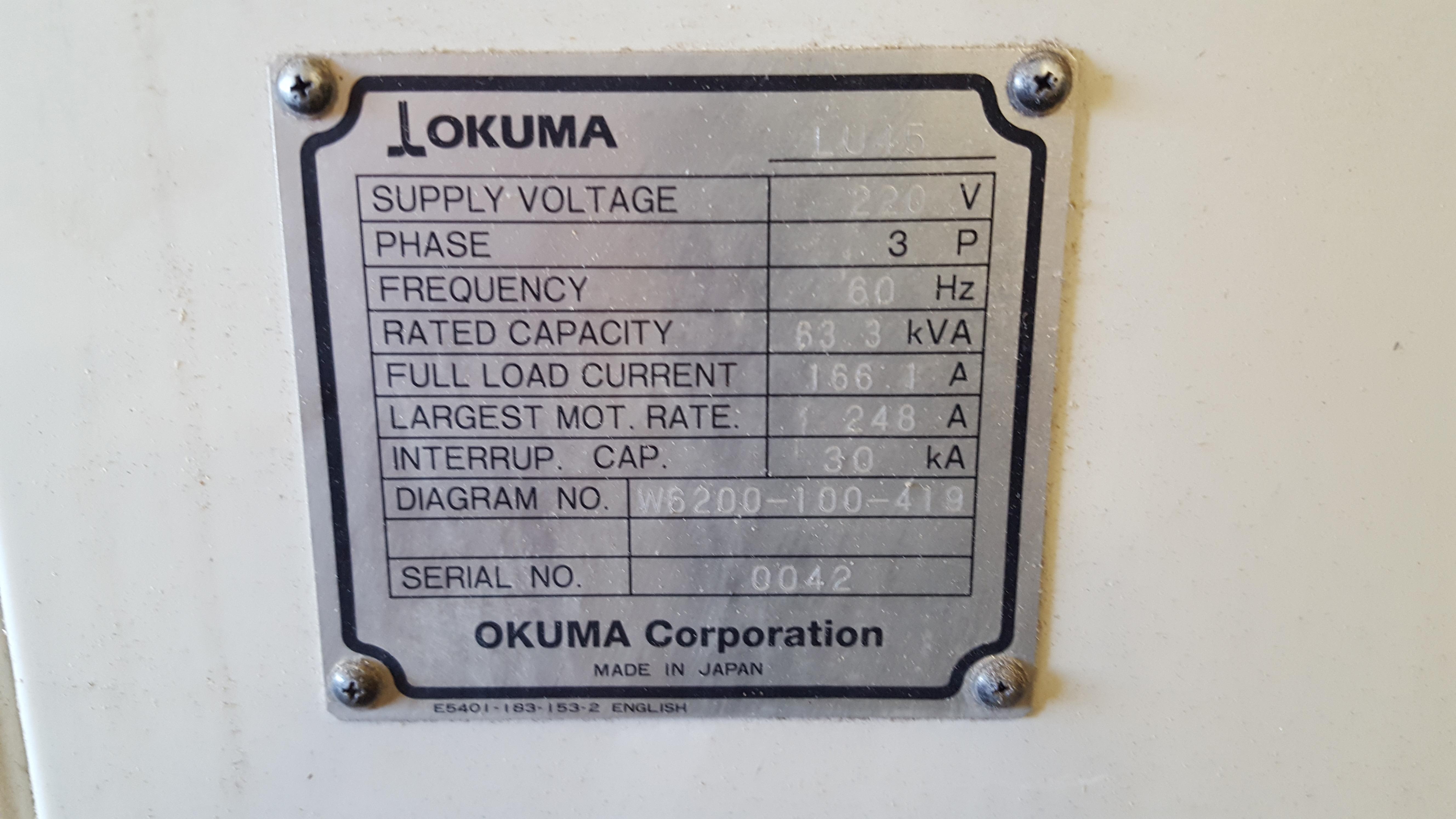 Used CNC Lathe Okuma LU-45 1995