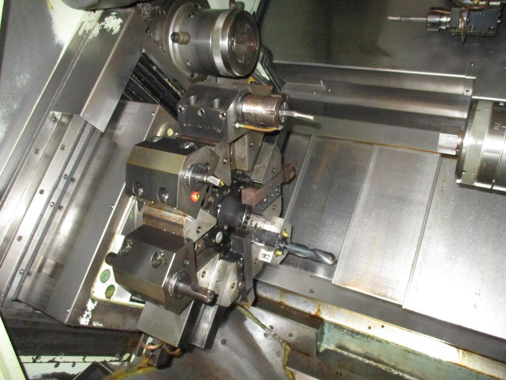 Used Dual Spindle Lathe Eurotech 710SLL Quattroflex 1998