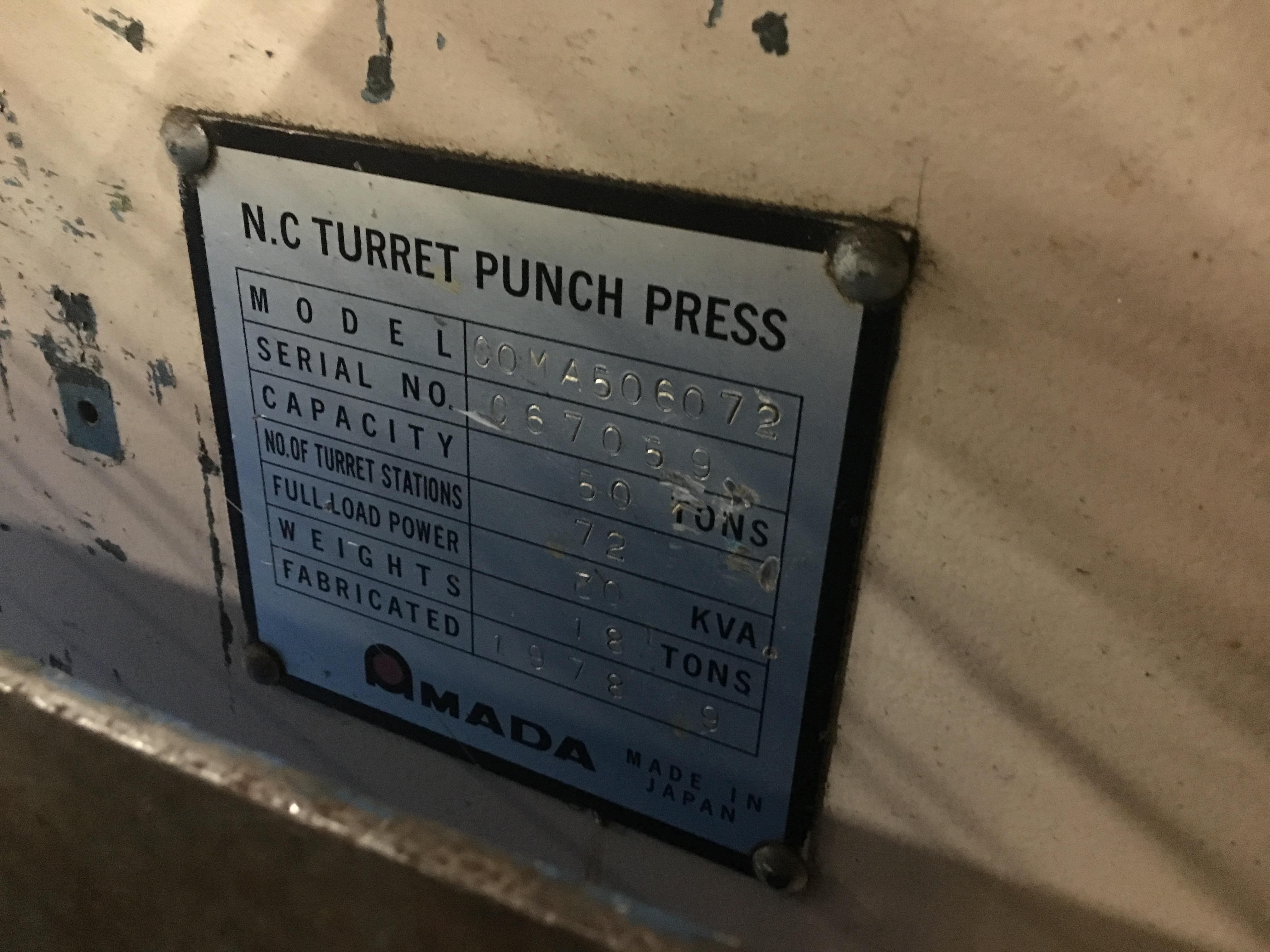 Used Turret Punch Amada Coma 567 1978