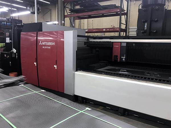 Used Laser Cutting Machine Mitsubishi ML3015eX Plus 45CF-R 2013