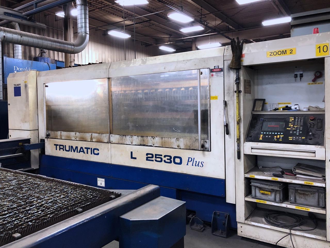 Used Laser Cutting Machine Trumpf Trumatic L2530 Plus 2003