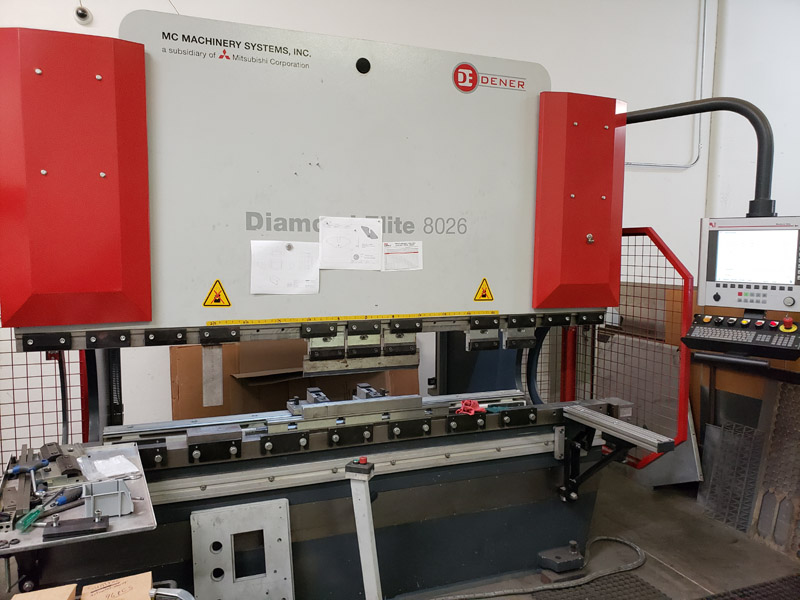 Used Hydraulic Press Brake Dener Diamond Elite 8026 2011