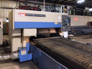 Used Laser Cutting Machine Mazak Super Turbo-X48 Hi-Pro Supercharger 1998