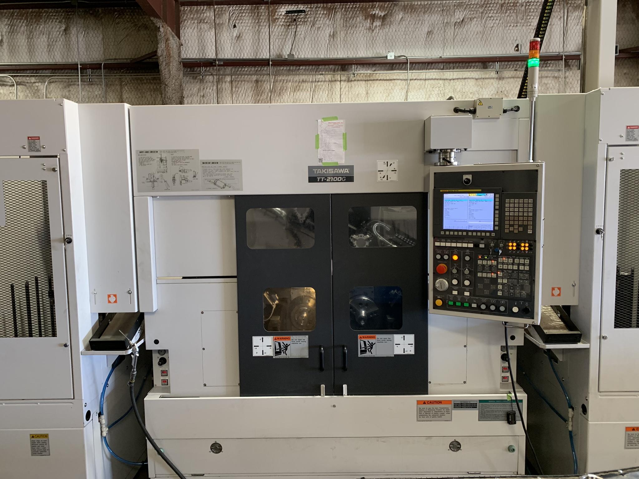 Used Dual Spindle Lathe Takisawa TT-2100G 2018