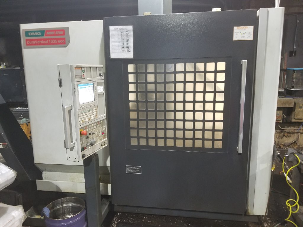 Used Vertical Machining Center DMG Mori Seiki Dura Vertical 1035 Eco 2012