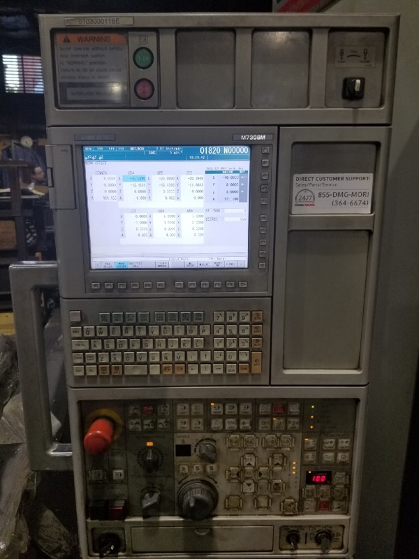 Used Vertical Machining Center DMG Mori Seiki Dura Vertical 1035 Eco 2012